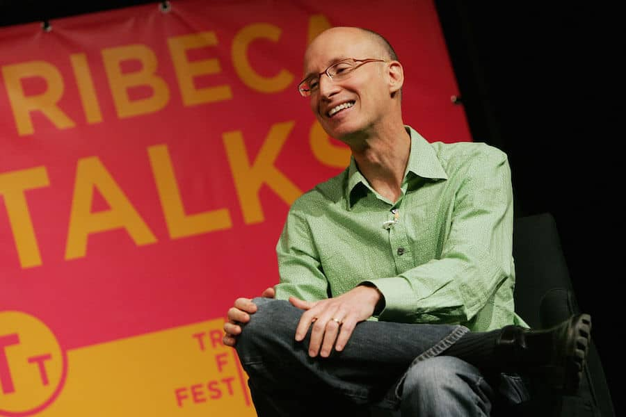 Photograph of Billy Shebar speaking at a Tribeca Film Festival event.
