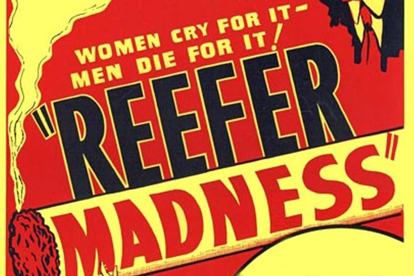 Detail of original Reefer Madness poster.
